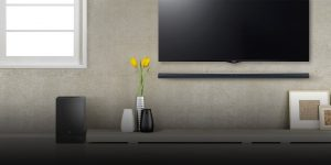 Soundbar near TV