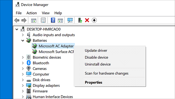 Device manager – Windows 10