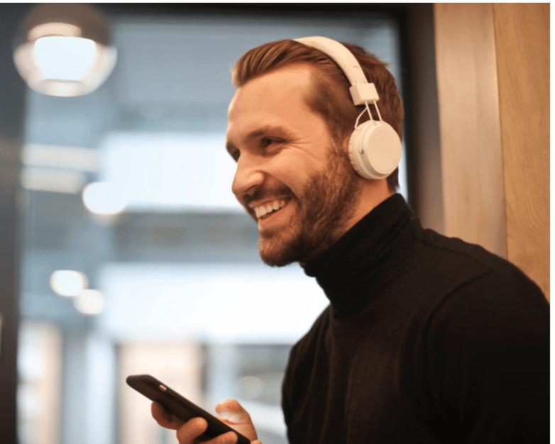 White Over the Ear Uproar Wireless Headphones