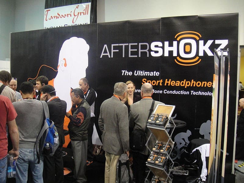 A stall of AfterShokz – A BCH distributor